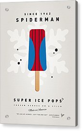 My Superhero Ice Pop - Spiderman Acrylic Print by Chungkong Art