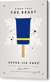 My Superhero Ice Pop - The Beast Acrylic Print by Chungkong Art