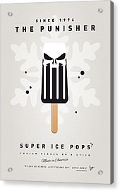 My Superhero Ice Pop - The Punisher Acrylic Print by Chungkong Art