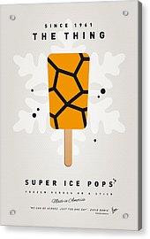 My Superhero Ice Pop - The Thing Acrylic Print by Chungkong Art