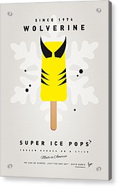 My Superhero Ice Pop - Wolverine Acrylic Print by Chungkong Art