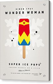 My Superhero Ice Pop - Wonder Woman Acrylic Print by Chungkong Art
