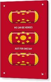 My Superhero Pills - Iron Man Acrylic Print by Chungkong Art