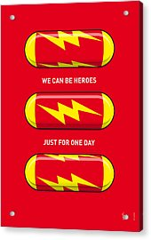My Superhero Pills - The Flash Acrylic Print by Chungkong Art