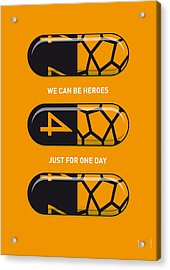My Superhero Pills - The Thing Acrylic Print by Chungkong Art