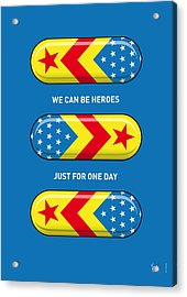My Superhero Pills - Wonder Woman Acrylic Print by Chungkong Art