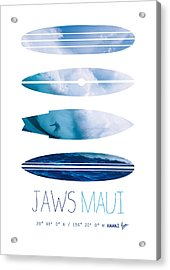 My Surfspots Poster-1-jaws-maui Acrylic Print