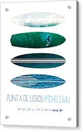 My Surfspots Poster-3-punta De Lobos-chile Acrylic Print