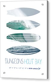 My Surfspots Poster-4-dungeons-cape-town-south-africa Acrylic Print