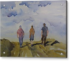My Three Boys Acrylic Print by Ramona Kraemer-Dobson