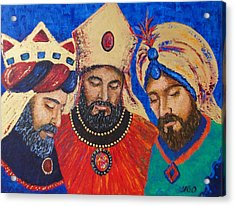 My Three Wise Kings Acrylic Print by Yamelin Gonzalez-Ortiz