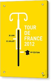 My Tour De France 2012 Minimal Poster Acrylic Print by Chungkong Art