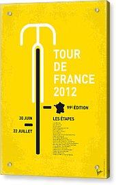 My Tour De France Minimal Poster 2012 Oud Acrylic Print