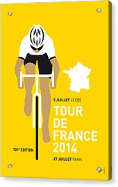 My Tour De France Minimal Poster 2014 Acrylic Print by Chungkong Art
