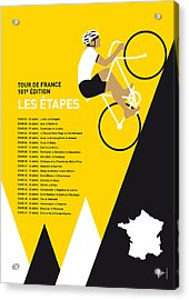 My Tour De France Minimal Poster 2014-etapes Acrylic Print by Chungkong Art