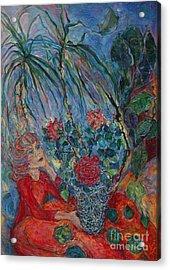 My Tropics Acrylic Print by Anna Yurasovsky