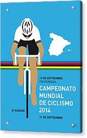 My Uci Road World Championships Minimal Poster 2014 Acrylic Print