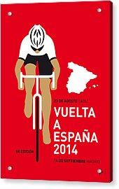My Vuelta A Espana Minimal Poster 2014 Acrylic Print