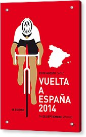 My Vuelta A Espana Minimal Poster 2014 Acrylic Print by Chungkong Art