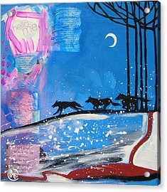 My Wildish Nature Acrylic Print by Cat Athena Louise