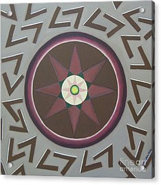 Acrylic Print featuring the painting My Yantra by Mini Arora