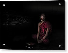 Myanmar - Meditation Acrylic Print