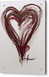 Myeloma Awareness Heart Acrylic Print
