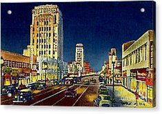 Myer- Siegel Department Store And The Miracle Mile In Los Angeles Ca Around 1940 Acrylic Print