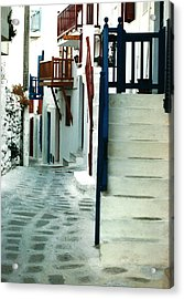 Acrylic Print featuring the photograph Mykonos Charm by Jacqueline M Lewis
