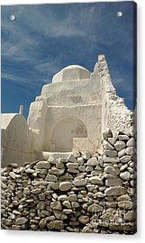 Acrylic Print featuring the photograph Mykonos Church by Vivian Christopher