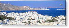 Mykonos, Cyclades, Greece Acrylic Print by Panoramic Images