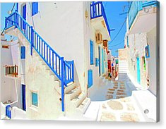 Mykonos IIi (from The Series postcards From Greece) Acrylic Print