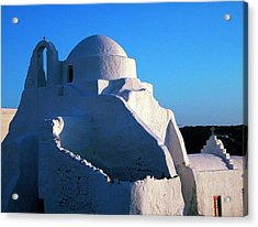 Acrylic Print featuring the photograph Mykonos Island Greece by Colette V Hera  Guggenheim