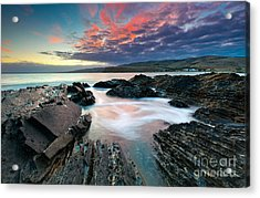 Myponga Beach Sunrise Acrylic Print by Bill  Robinson
