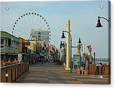 Myrtle Beach Boardwalk Acrylic Print by Suzanne Gaff