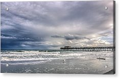 Myrtle Beach Fishing Pier Acrylic Print by Rob Sellers