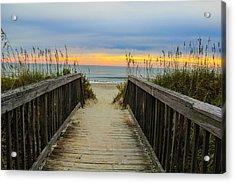 Myrtle Beach Morning Walk  Acrylic Print by Donald Hovis Jr