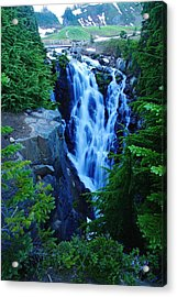 Myrtle Falls Acrylic Print by Jeff Swan