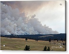 Acrylic Print featuring the photograph Myrtle Fire West Of Wind Cave National Park by Bill Gabbert