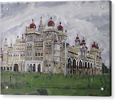 Acrylic Print featuring the painting Mysore Palace by Vikram Singh