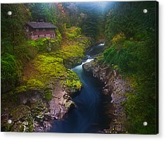 Mysteries Of The Lewis House Acrylic Print by Darren  White