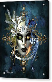 Mysteries Of The Mask 1 Acrylic Print