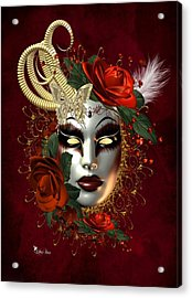 Mysteries Of The Mask 2 Acrylic Print