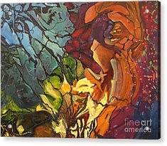 Acrylic Print featuring the painting Mysterious Abyss by AnnE Dentler
