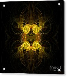 Acrylic Print featuring the digital art Mysterious Energy by Hanza Turgul