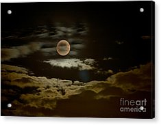 Mysterious Moon Acrylic Print by Boon Mee