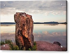 Mysterious Stone. Frontier In Between Old And New World Acrylic Print by Jenny Rainbow