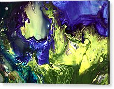 Mysterious Way Bright Abstract Painted By Nature Acrylic Print
