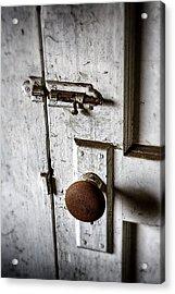 Mystery Door Acrylic Print by Caitlyn  Grasso