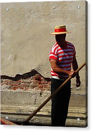 Acrylic Print featuring the photograph Mystery Gondolier by Ramona Johnston